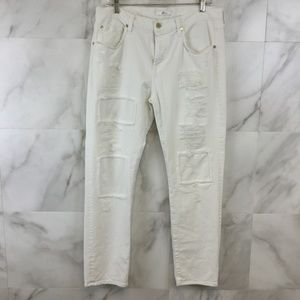 7 For All Mankind Distressed Boyfriend Cut Jeans